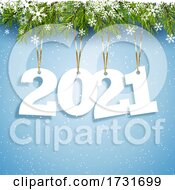 Poster, Art Print Of Happy New Year Background With Hanging Numbers
