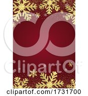 Glittery Gold Christmas Snowflake Background