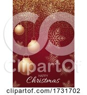 Decorative Red And Gold Christmas Background