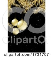Gold And Black Christmas Card Design
