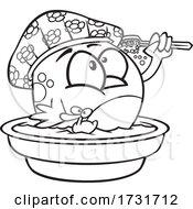 Cartoon Bird Bathing