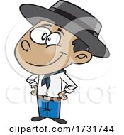 Cartoon Brazilian Boy