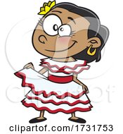 Cartoon Cuban Girl