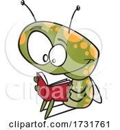 Cartoon Bug Reading A Book
