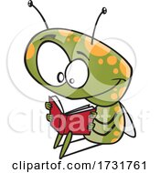 Cartoon Bug Reading A Book