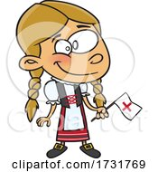 Cartoon Swiss Girl by toonaday