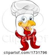 Poster, Art Print Of Chef Chicken Rooster Cockerel Cartoon Character