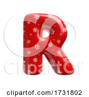 Snowflake Letter R Uppercase 3d Christmas Suitable For Christmas Santa Claus Or Winter Related Subjects by chrisroll