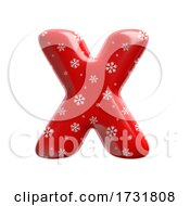Snowflake Letter X Uppercase 3d Christmas Suitable For Christmas Santa Claus Or Winter Related Subjects by chrisroll
