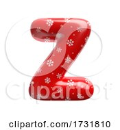 Snowflake Letter Z Uppercase 3d Christmas Suitable For Christmas Santa Claus Or Winter Related Subjects by chrisroll