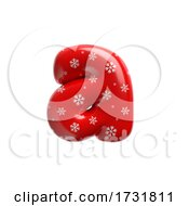 Snowflake Letter A Lowercase 3d Christmas Suitable For Christmas Santa Claus Or Winter Related Subjects by chrisroll