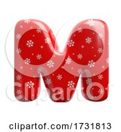 Snowflake Letter M Capital 3d Christmas Suitable For Christmas Santa Claus Or Winter Related Subjects by chrisroll