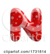 Snowflake Letter N Capital 3d Christmas Suitable For Christmas Santa Claus Or Winter Related Subjects by chrisroll