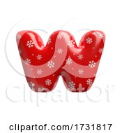 Snowflake Letter W Lowercase 3d Christmas Suitable For Christmas Santa Claus Or Winter Related Subjects by chrisroll