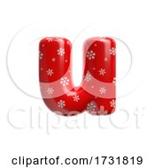 Snowflake Letter U Small 3d Christmas Suitable For Christmas Santa Claus Or Winter Related Subjects by chrisroll