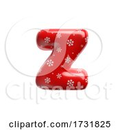Snowflake Letter Z Lowercase 3d Christmas Suitable For Christmas Santa Claus Or Winter Related Subjects by chrisroll