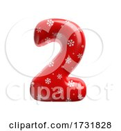 Snowflake Number 2 3d Christmas Digit Suitable For Christmas Santa Claus Or Winter Related Subjects by chrisroll