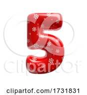 Snowflake Number 5 3d Christmas Digit Suitable For Christmas Santa Claus Or Winter Related Subjects