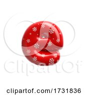Snowflake Letter E Lowercase 3d Christmas Suitable For Christmas Santa Claus Or Winter Related Subjects