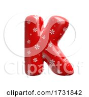 Snowflake Letter K Capital 3d Christmas Suitable For Christmas Santa Claus Or Winter Related Subjects