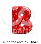 Snowflake Letter B Capital 3d Christmas Suitable For Christmas Santa Claus Or Winter Related Subjects