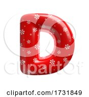 Snowflake Letter D Capital 3d Christmas Suitable For Christmas Santa Claus Or Winter Related Subjects