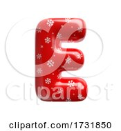 Snowflake Letter E Capital 3d Christmas Suitable For Christmas Santa Claus Or Winter Related Subjects