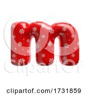 Snowflake Letter M Lowercase 3d Christmas Suitable For Christmas Santa Claus Or Winter Related Subjects