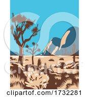 Poster, Art Print Of Joshua Tree National Park Riverside County California United States Wpa
