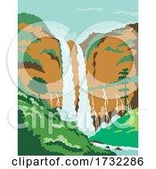 Maria Cristina Falls Or Twin Falls Waterfall In Agus River Iligan City Philippines WPA