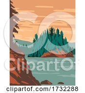 Isle Royale National Park And Of Islands In Lake Superior Michigan United States WPA