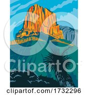 Guadalupe Mountains National Park With El Capitan Peak Texas United States WPA