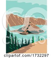 Crater Lake National Park In Klamath County Oregon United States WPA