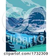 Glacier National Park And Kintla Lake In Montana United States WPA