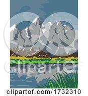 Grand Teton National Park Located in Jackson Wyoming United States WPA by patrimonio #COLLC1732310-0113