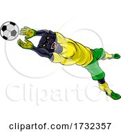 Panther Soccer Football Player Sports Mascot