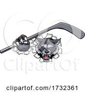 Wolf Ice Hockey Player Animal Sports Mascot by AtStockIllustration