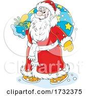 Santa Claus Carrying A Sack
