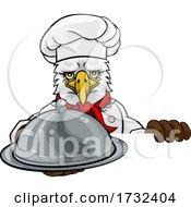 Eagle Chef Mascot Sign Cartoon Character