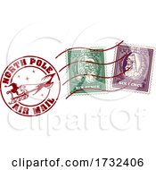 Santa Claus Christmas Postage Letter Post Stamp