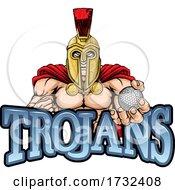 Trojan Spartan Golf Sports Mascot
