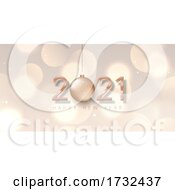 Rose Gold Happy New Year Banner Design