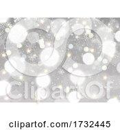 Silver Bokeh Lights Christmas Background