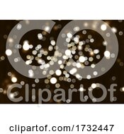 Christmas Background With Bokeh Lights Design