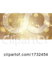 Gold Christmas Snowflake Design