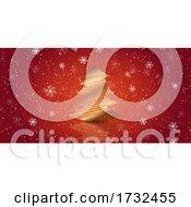Scribble Christmas Tree Banner Design