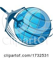 Airplane And Globe