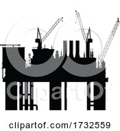 Silhouetted Refinery