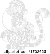 Chinese Zodiac Monkey by Vector Tradition SM