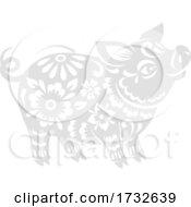Poster, Art Print Of Chinese Zodiac Pig